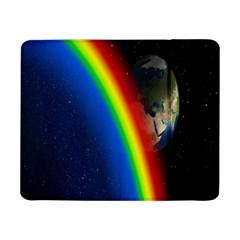 Rainbow Earth Outer Space Fantasy Carmen Image Samsung Galaxy Tab Pro 8 4  Flip Case by Simbadda