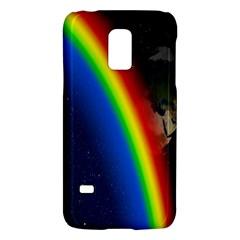 Rainbow Earth Outer Space Fantasy Carmen Image Galaxy S5 Mini by Simbadda