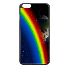 Rainbow Earth Outer Space Fantasy Carmen Image Apple Iphone 6 Plus/6s Plus Black Enamel Case by Simbadda