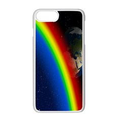 Rainbow Earth Outer Space Fantasy Carmen Image Apple Iphone 7 Plus White Seamless Case by Simbadda