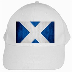 Scotland Flag Surface Texture Color Symbolism White Cap by Simbadda