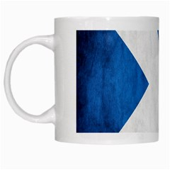 Scotland Flag Surface Texture Color Symbolism White Mugs by Simbadda