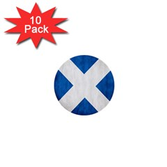 Scotland Flag Surface Texture Color Symbolism 1  Mini Buttons (10 Pack)  by Simbadda