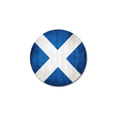 Scotland Flag Surface Texture Color Symbolism Golf Ball Marker (4 Pack) by Simbadda