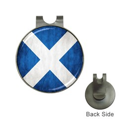 Scotland Flag Surface Texture Color Symbolism Hat Clips With Golf Markers by Simbadda
