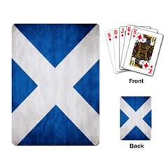 Scotland Flag Surface Texture Color Symbolism Playing Card by Simbadda