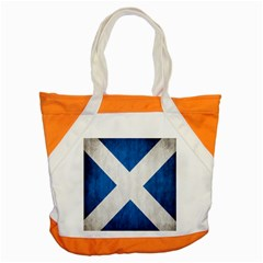 Scotland Flag Surface Texture Color Symbolism Accent Tote Bag by Simbadda