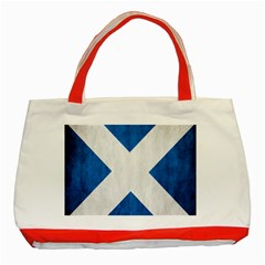 Scotland Flag Surface Texture Color Symbolism Classic Tote Bag (red) by Simbadda