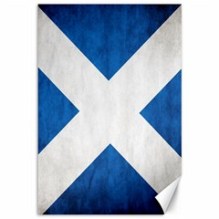 Scotland Flag Surface Texture Color Symbolism Canvas 12  X 18   by Simbadda