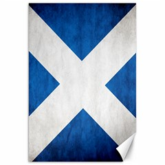 Scotland Flag Surface Texture Color Symbolism Canvas 20  X 30   by Simbadda