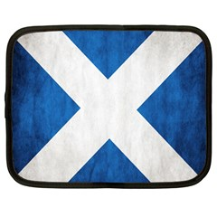 Scotland Flag Surface Texture Color Symbolism Netbook Case (Large)