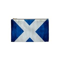 Scotland Flag Surface Texture Color Symbolism Cosmetic Bag (small)  by Simbadda