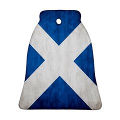 Scotland Flag Surface Texture Color Symbolism Bell Ornament (two Sides) by Simbadda