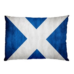 Scotland Flag Surface Texture Color Symbolism Pillow Case (two Sides) by Simbadda