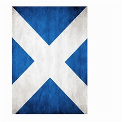 Scotland Flag Surface Texture Color Symbolism Large Garden Flag (two Sides) by Simbadda
