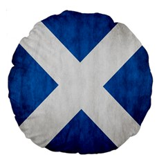 Scotland Flag Surface Texture Color Symbolism Large 18  Premium Round Cushions by Simbadda