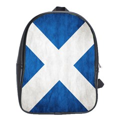 Scotland Flag Surface Texture Color Symbolism School Bags (xl)  by Simbadda