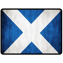 Scotland Flag Surface Texture Color Symbolism Double Sided Fleece Blanket (large)  by Simbadda