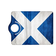 Scotland Flag Surface Texture Color Symbolism Kindle Fire Hd (2013) Flip 360 Case by Simbadda