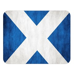 Scotland Flag Surface Texture Color Symbolism Double Sided Flano Blanket (large)  by Simbadda