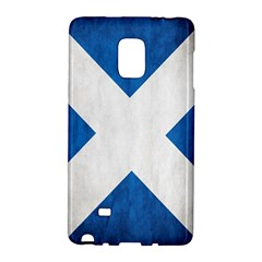 Scotland Flag Surface Texture Color Symbolism Galaxy Note Edge by Simbadda