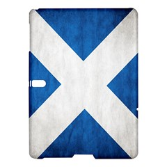 Scotland Flag Surface Texture Color Symbolism Samsung Galaxy Tab S (10 5 ) Hardshell Case  by Simbadda