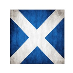 Scotland Flag Surface Texture Color Symbolism Small Satin Scarf (square) by Simbadda
