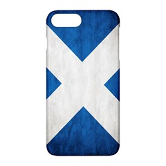 Scotland Flag Surface Texture Color Symbolism Apple Iphone 7 Plus Hardshell Case by Simbadda