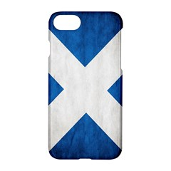 Scotland Flag Surface Texture Color Symbolism Apple Iphone 7 Hardshell Case by Simbadda
