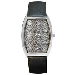 Patterns Wavy Background Texture Metal Silver Barrel Style Metal Watch by Simbadda