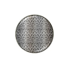 Patterns Wavy Background Texture Metal Silver Hat Clip Ball Marker (4 Pack) by Simbadda