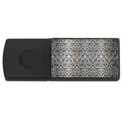 Patterns Wavy Background Texture Metal Silver Usb Flash Drive Rectangular (4 Gb) by Simbadda