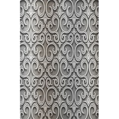 Patterns Wavy Background Texture Metal Silver 5 5  X 8 5  Notebooks by Simbadda