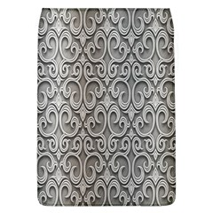 Patterns Wavy Background Texture Metal Silver Flap Covers (l)  by Simbadda
