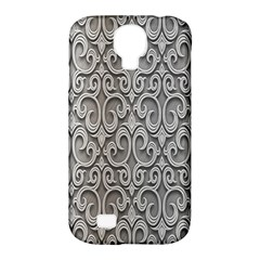 Patterns Wavy Background Texture Metal Silver Samsung Galaxy S4 Classic Hardshell Case (pc+silicone) by Simbadda