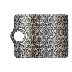 Patterns Wavy Background Texture Metal Silver Kindle Fire Hd (2013) Flip 360 Case by Simbadda