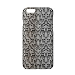 Patterns Wavy Background Texture Metal Silver Apple Iphone 6/6s Hardshell Case by Simbadda