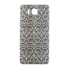 Patterns Wavy Background Texture Metal Silver Samsung Galaxy Alpha Hardshell Back Case by Simbadda