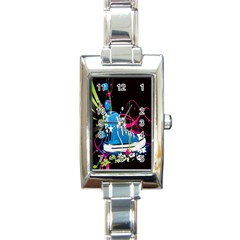 Sneakers Shoes Patterns Bright Rectangle Italian Charm Watch by Simbadda