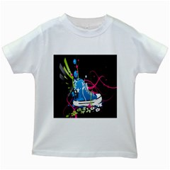 Sneakers Shoes Patterns Bright Kids White T Shirts by Simbadda