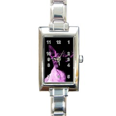 Pink Sphynx Cat Rectangle Italian Charm Watch by Valentinaart