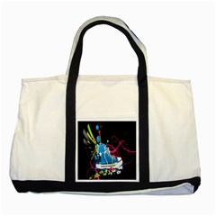 Sneakers Shoes Patterns Bright Two Tone Tote Bag by Simbadda