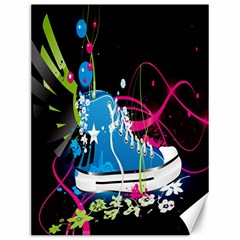 Sneakers Shoes Patterns Bright Canvas 12  X 16   by Simbadda