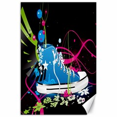 Sneakers Shoes Patterns Bright Canvas 24  X 36  by Simbadda