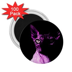 Pink Sphynx Cat 2 25  Magnets (100 Pack)  by Valentinaart