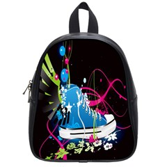 Sneakers Shoes Patterns Bright School Bags (small)  by Simbadda
