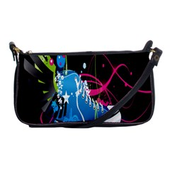 Sneakers Shoes Patterns Bright Shoulder Clutch Bags by Simbadda