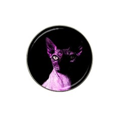 Pink Sphynx Cat Hat Clip Ball Marker by Valentinaart