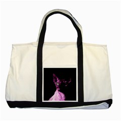 Pink Sphynx Cat Two Tone Tote Bag by Valentinaart