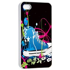 Sneakers Shoes Patterns Bright Apple Iphone 4/4s Seamless Case (white) by Simbadda